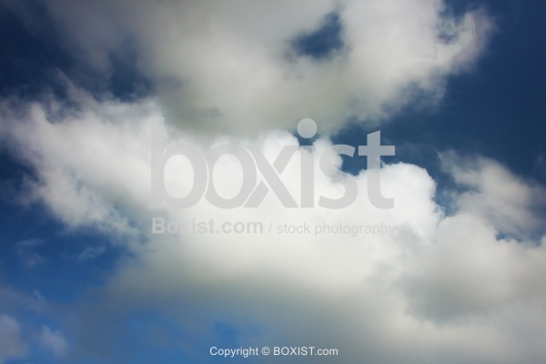 Fluffy White Clouds in the Sky