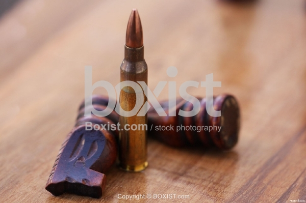 Bullet with Chess Pieces