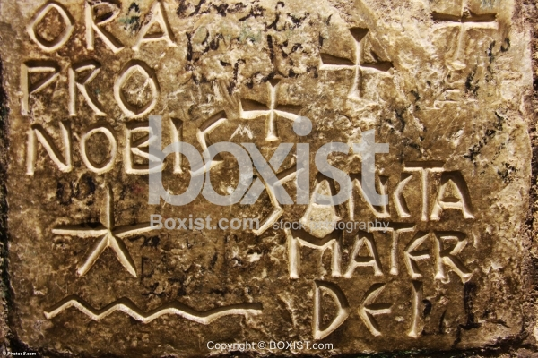 Engraved Stone in Latin