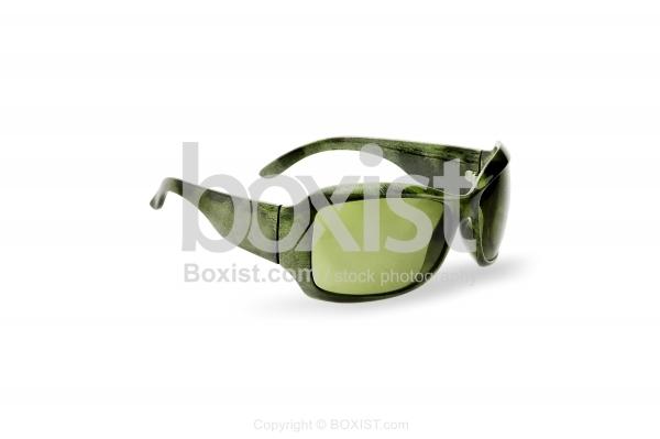 Wide Green Sunglasses
