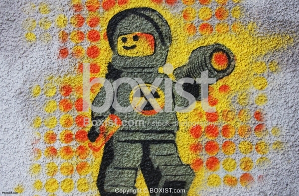 Artist Radiation Suit Graffiti