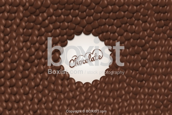 Brown Chocolate Balls Background