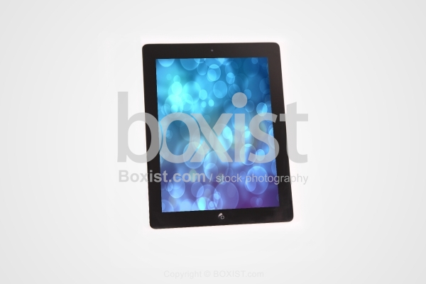 Electronic Tablet with Bokeh Lights