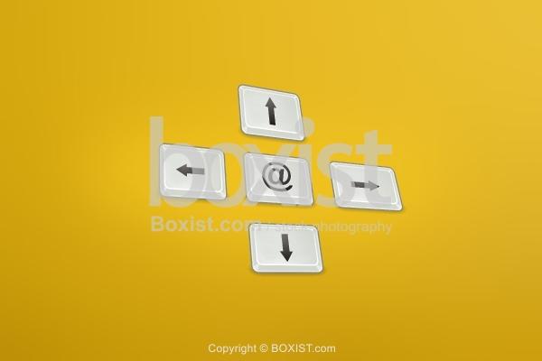 Keyboard Buttons Four Arrows