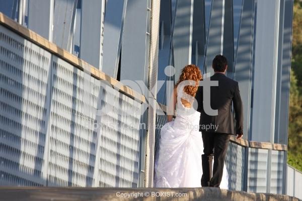 Bride and Groom Street Walking
