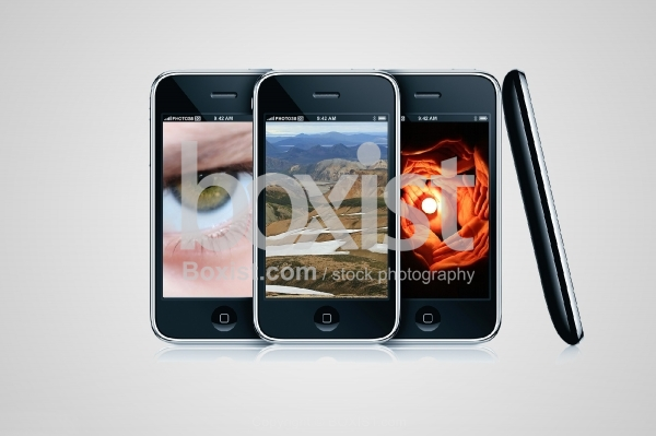 Smart Phones with Images on Screen