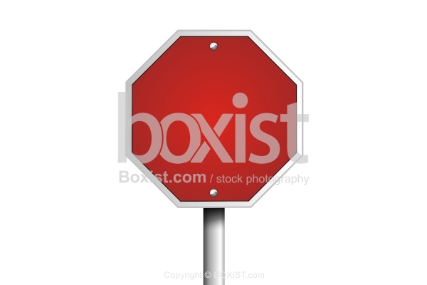 Blank Red Hexagon Sign