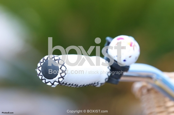 Bicycle White Leather Handle