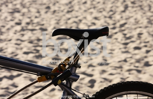 Bicycle Seat on Sand