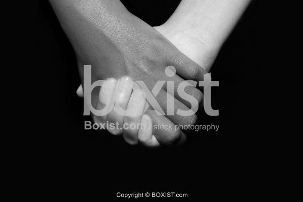 Black and White Hands Holding