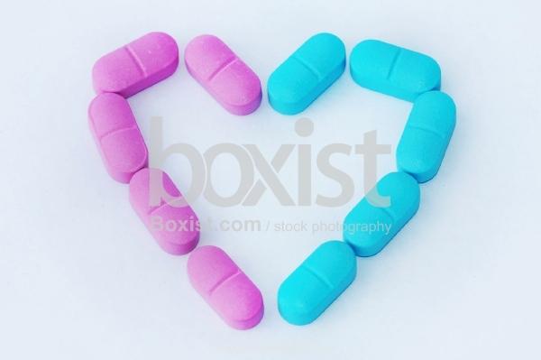 Medicine Pills Heart Shape