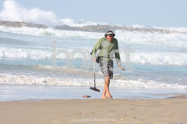 Metal Detector Man on Beach