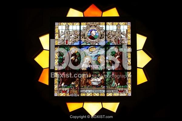 Nativity Scene Stained Glass in Bethlehem