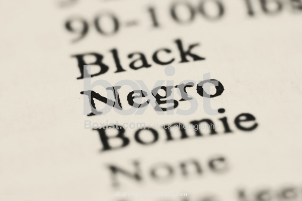 Negro Word Printed