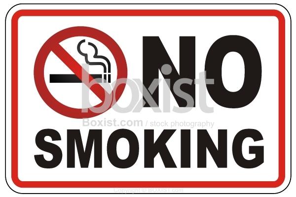 No Smoking Caution Sign