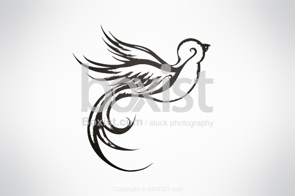 Vector Design of Sparrow Bird Flying