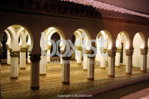 Model of Arches in Toledo Synagogue in Spain