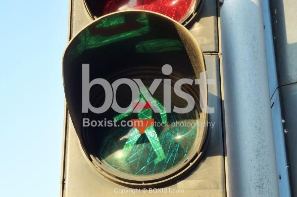 Traffic Walking Green Light Wearing Underwear