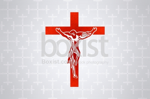 Drawing Design of Jesus on the Cross