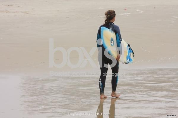 Surfer Girl Walking