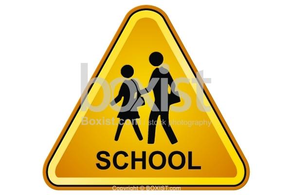 School Walking Sign