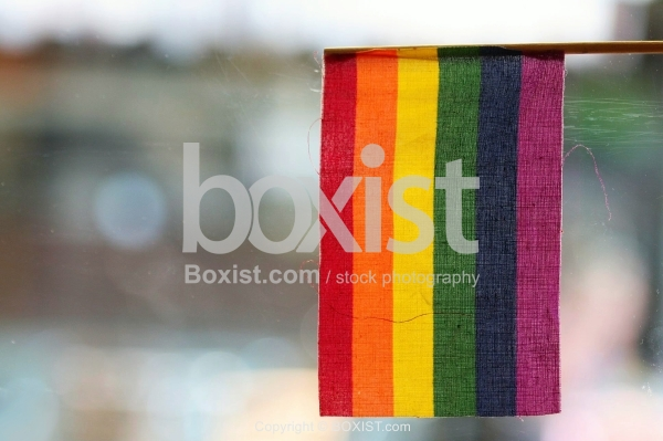 Hanged Rainbow Flag
