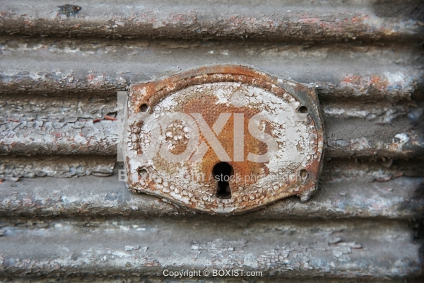 Old and Rusty Keyhole