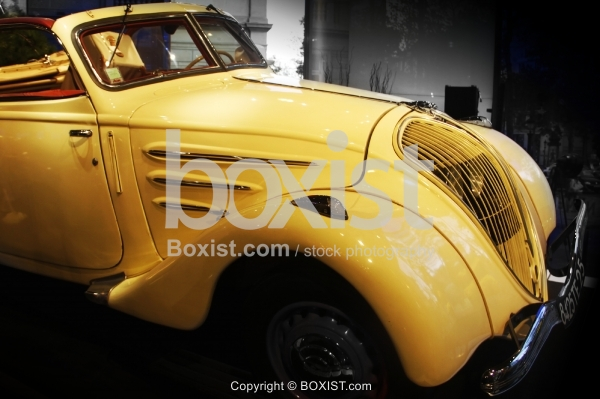 Old Vintage Yellow Car