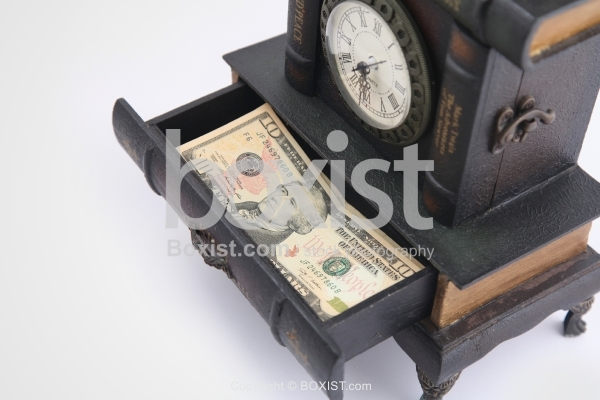 Open Drawer with Money