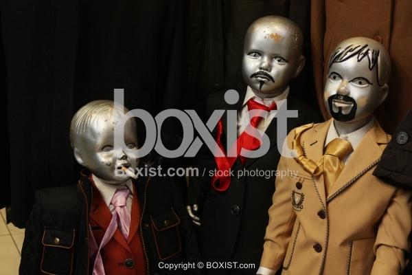 Store with Children Mannequins