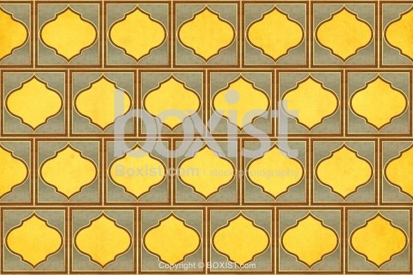 Simple Geometric Arabesque Pattern Decorative Background