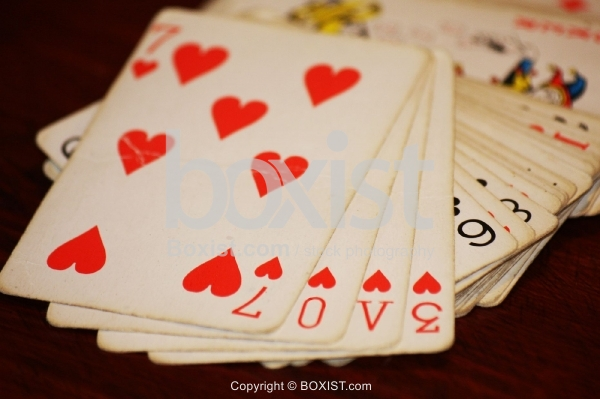 Playing Cards with LOVE Word
