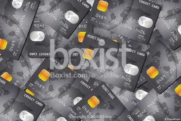 Designed Credit Cards Background