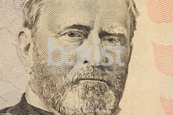 50 Dollars Bill with President Grant Face