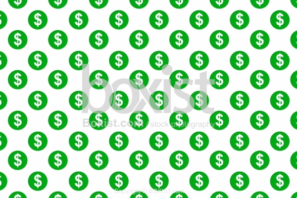 Green Seamless Patterns Of Dollars Sign