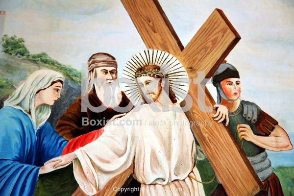 Painting of Jesus Christ Carrying the Cros