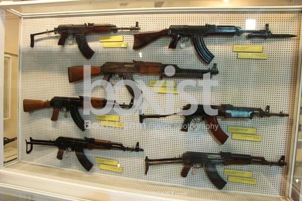 Closet with AK 47 Assault Rifles