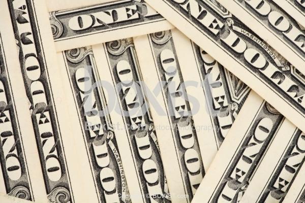 Closeup Of One Dollars