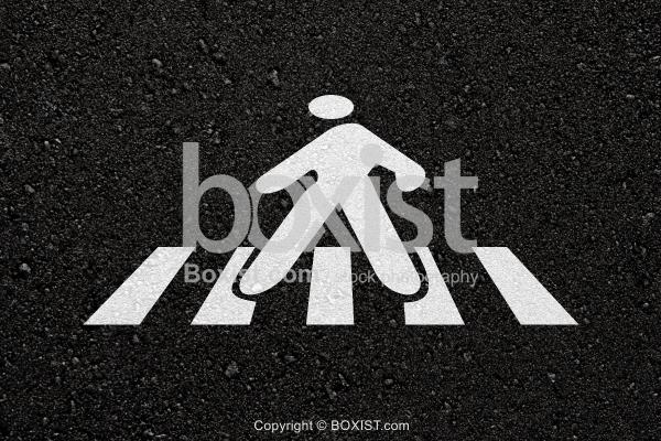 Crosswalk On Asphalt