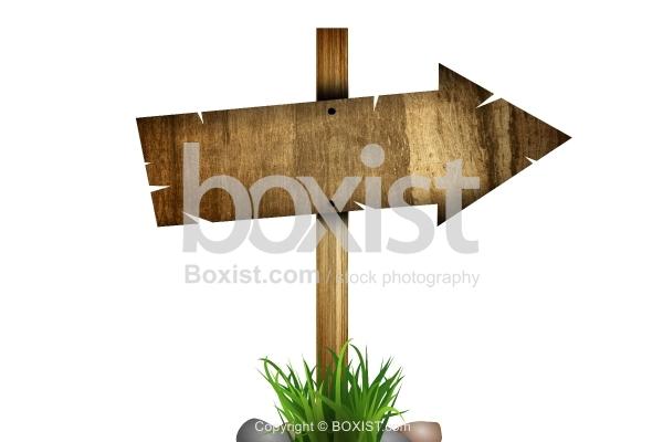 Arrow Wooden Sign
