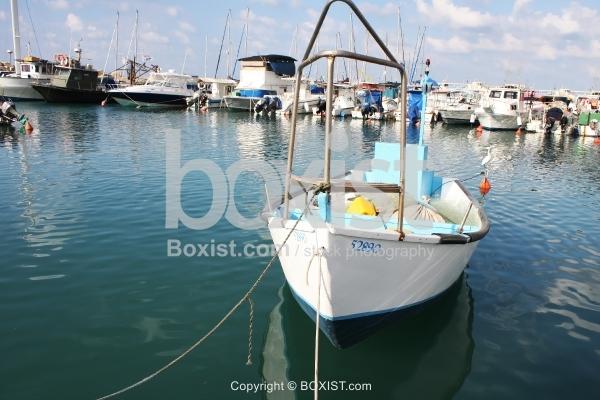 Fisherman Boat In Marina
