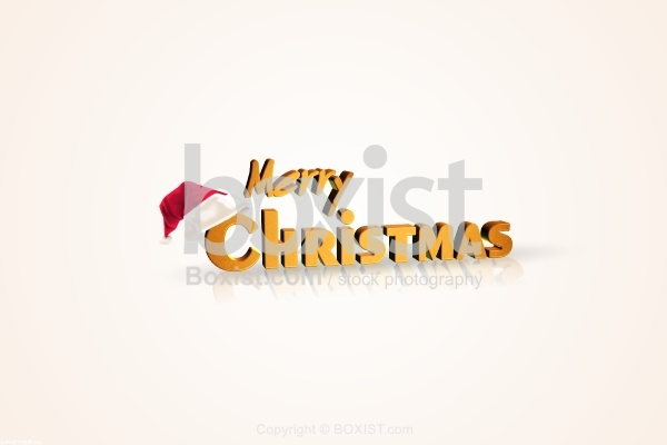 Merry Christmas Card in 3D