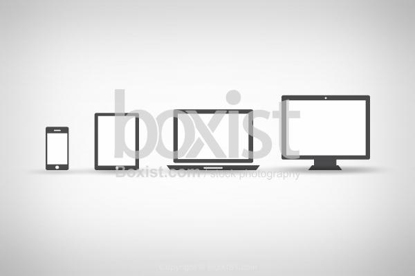Tablet Laptop And Desktop Computer Devices