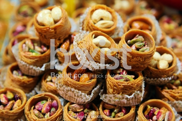 Baklava Stuffed With Almonds and Pistachio
