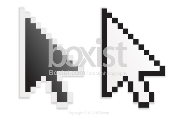 Black And White Mouse Cursor