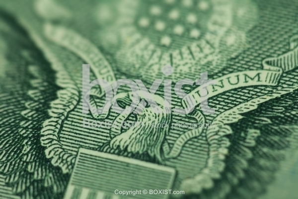 Extreme Closeup of the Eagle on One Dollar Bill