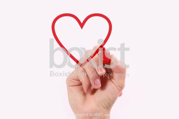Hand Drawing Love Heart