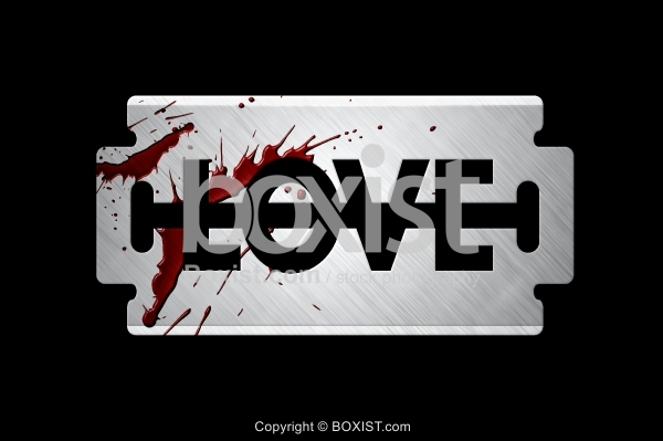 Love Razor Blade With Blood