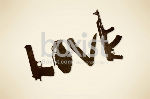 Love Spelled With Weapons