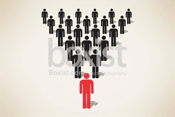 Man Symbol Team Leader